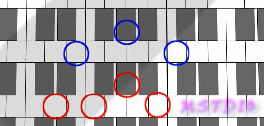 図:Eaug(?)とDdim7(?)