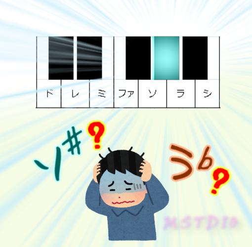 図:ソ♯?ラ♭?同じ?違う?